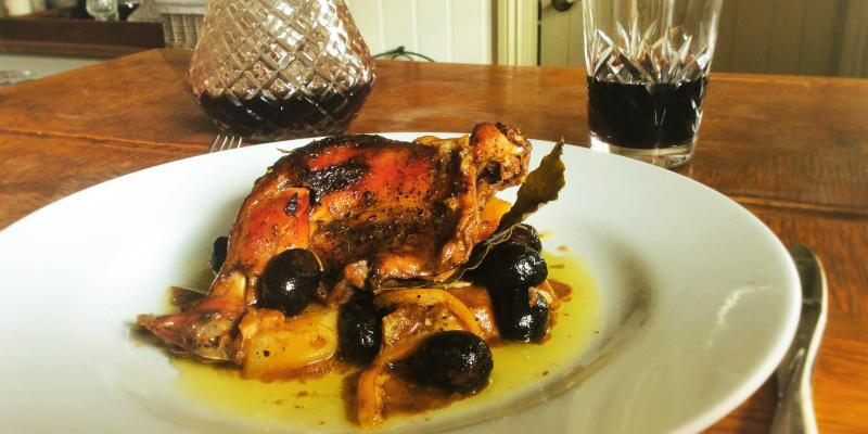 Ligurian Rabbit with Black Olives